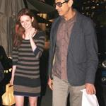 Jeff Goldblum dating Lydia Hearst leaving Mr Chow  74145