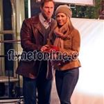 Jennifer Aniston flirting with Aaron Eckhart in Vancouver 16456