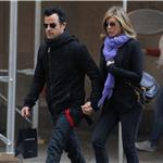 Justin Theroux and Jennifer Aniston spotted by Nellos Restaurant in NYC 98077