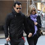 Justin Theroux and Jennifer Aniston spotted by Nellos Restaurant in NYC 98079