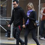 Justin Theroux and Jennifer Aniston spotted by Nellos Restaurant in NYC 98081