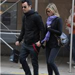 Justin Theroux and Jennifer Aniston spotted by Nellos Restaurant in NYC 98082