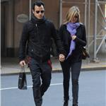 Justin Theroux and Jennifer Aniston spotted by Nellos Restaurant in NYC 98083