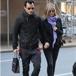 Justin Theroux and Jennifer Aniston spotted by Nellos Restaurant in NYC 98084