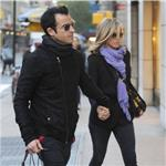 Justin Theroux and Jennifer Aniston spotted by Nellos Restaurant in NYC 98086