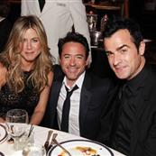 Jennifer Aniston, Robert Downey Jr. and Justin Theroux at American Cinematheque's 2011 Award Show Honoring Robert Downey Jr. at The Beverly Hilton Hotel 96422