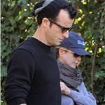 Jennifer Aniston and Justin Theroux take her dog Dolly for a walk in Beverly Hills 99284