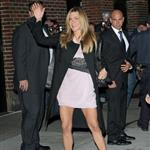 Jennifer Aniston shows off legs at Letterman 29304