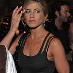 Jennifer Aniston side-eye with Justin Theroux at MTV Movie Awards afterparty 86788
