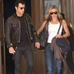 Jennifer Aniston and Justin Theroux leave The Ritz Hotel in Paris 117568