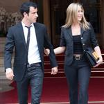 Jennifer Aniston and Justin Theroux head to dinner at the Eiffel Tower in Paris 117579