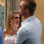 Jennifer Aniston and Brad Pitt in Rome, June 2004 117711