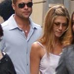 Jennifer Aniston and Brad Pitt in Rome, June 2004 117719