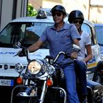 George Clooney and Stacy Keibler motorcycling around Lake Como, Italy 117743
