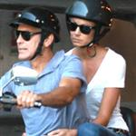George Clooney and Stacy Keibler motorcycling around Lake Como, Italy 117745