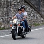 George Clooney and Stacy Keibler motorcycling around Lake Como, Italy 117746