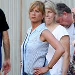 Jennifer Aniston on the set of We're the Millers with Emma Roberts and Jason Sudeikis 121465