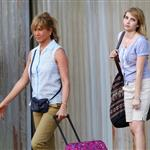 Jennifer Aniston on the set of We're the Millers with Emma Roberts and Jason Sudeikis 121467