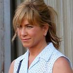 Jennifer Aniston on the set of We're the Millers with Emma Roberts and Jason Sudeikis 121468