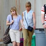 Jennifer Aniston on the set of We're the Millers with Emma Roberts and Jason Sudeikis 121471