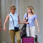 Jennifer Aniston on the set of We're the Millers with Emma Roberts and Jason Sudeikis 121473