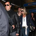 Jennifer Aniston and Justin Theroux arrive at LAX from their European vacation  118673