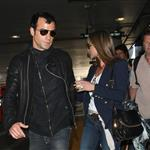Jennifer Aniston and Justin Theroux arrive at LAX from their European vacation  118684