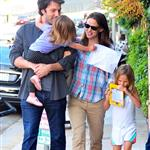 Jennifer Garner Ben Affleck out in Brentwood with their daughters  89690