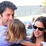 Jennifer Garner Ben Affleck out in Brentwood with their daughters  89691