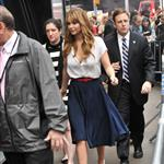 Jennifer Lawrence arrives at Good Morning America studios 109444