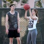 Jennifer Lawrence and Nicholas Hoult playing ball in LA  104553