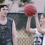 Jennifer Lawrence and Nicholas Hoult playing ball in LA  104554
