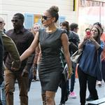 Jennifer Lopez and Casper Smart arrive at The Grove for the Grand Opening Of Robert Earl's Planet Dailies/Mixology 101 Los Angeles 110763