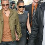 Jennifer Lopez and Casper Smart arrive at The Grove for the Grand Opening Of Robert Earl's Planet Dailies/Mixology 101 Los Angeles 110764