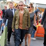 Jennifer Lopez and Casper Smart arrive at The Grove for the Grand Opening Of Robert Earl's Planet Dailies/Mixology 101 Los Angeles 110767