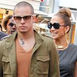 Jennifer Lopez and Casper Smart arrive at The Grove for the Grand Opening Of Robert Earl's Planet Dailies/Mixology 101 Los Angeles 110768