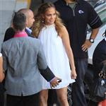 Jennifer Lopez arrives at the American Idol set  114328