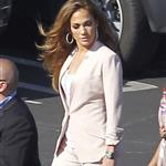 Jennifer Lopez arrives at the American Idol set 114798
