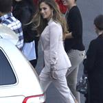 Jennifer Lopez arrives at the American Idol set 114799