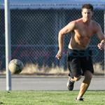 Jensen Ackles shirtless playing soccer in Vancouver August 2010  67599
