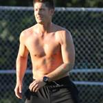 Jensen Ackles shirtless playing soccer in Vancouver August 2010  67603