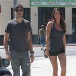 Jeremy Renner out in Los Angeles with a mystery girl 124792