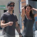 Jeremy Renner out in Los Angeles with a mystery girl 124800