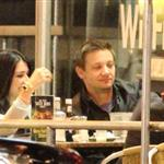 Jeremy Renner eating at Mel's Diner in Los Angeles 110650