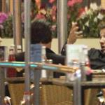 Jeremy Renner eating at Mel's Diner in Los Angeles 110656