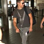 Jeremy Renner at LAX to catch a flight 123946
