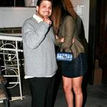 Jerry Ferrara and Jamie-Lynn Sigler hide from paps outside Madeo 30638