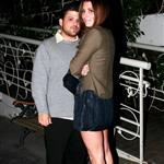 Jerry Ferrara and Jamie-Lynn Sigler hide from paps outside Madeo 30635