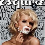 Jessica Simpson shaving on cover of Esquire 19278