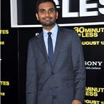 Aziz Ansari at LA premiere of 30 Minutes or Less 91508